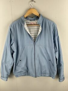 Simon Kessel Vintage Bomber Full Zip Jacket - Size Small Blue