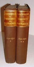 CORRESPONDENCE OF THOMAS CARLYLE AND RALPH WALDO EMERSON 1883 2 VOLS VERY GOOD