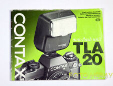 Contax Auto Flash Unit tla 20 manuale G/E/F/S 00023