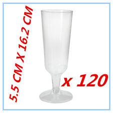 120 DISPOSABLE PARTY PLASTIC CLEAR CHAMPAGNE GLASS - ALL Occasions WEDDING AP