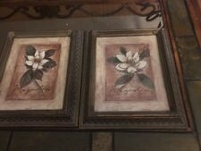 Two Home Interiors Framed Magnolia Prints Beautiful