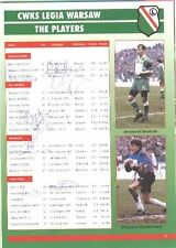European Players/Clubs Signed Football Programmes