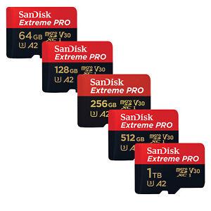 SanDisk Extreme Pro micro SDXC 64GB 128GB 256GB 400GB 512GB 1TB 170MB/s A2