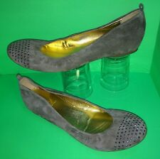 J CREW ~ MADE IN ITALY ~ Suede Leather Front Stud Scrunchy Ballet Flat Shoes 10
