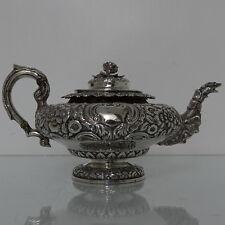 19th Century Irish George IV Antique Teapot Dublin 1832 James Fray