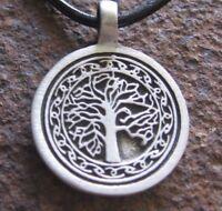Lebensbaum Anhänger Baumwollschnur Tree of Life Herren schwarz Kette Halskette