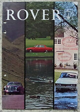 ROVER CAR RANGE Sales Brochure 1970 #778 2000 3500 V8 3 ½ Litre  Saloon & Coupe+