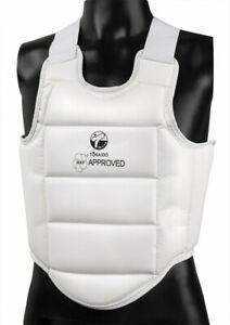 Tokaido Karate Protective Vest,Body Guard. Wkf ,White. Martial Arts Vest. XS-XL