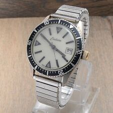 Vintage Endura Men's Diver Watch Automatic Running GLOW Dial Date 36mm