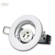 10 x GU10 Telaio di montaggio per faretti da incasso bianco lampada GU 10 230V