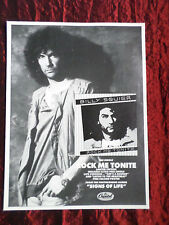 BILLY SQUIER - 1 PAGE ADVERT -MAGAZINE CLIPPING / CUTTING