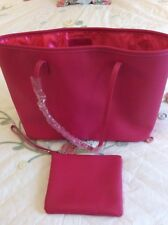 New Harrods pink shopper with detachable zipped wristlet purse