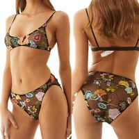 Hot Women Lace Floral Bralette Bralet Bra Bustier Crop Top Cami Unpadded Tank