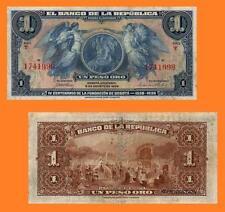 Colombia 1 Peso oro 1938. UNC - Reproduction