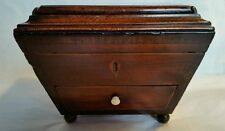 A William lV sarcophagus design Jewellery Box, in solid mahogany. Circa 1830's