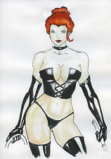 A00045 Black Queen *Click the button* original drawing marvel legends comics