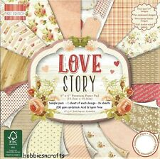DOVECRAFT LOVE STORY PAPERS 6 X 6 SAMPLE PACK - NEW 1 OF EACH DESIGN - 16 SHEETS