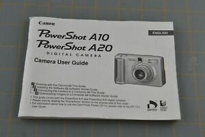 Canon PowerShot A10 A20 Owner's Manual Guide Paper 120 Page PC1007 PC1009