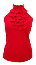 Hip Length Silk Classic Sleeveless Tops & Shirts for Women