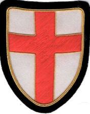 Medieval King Templar Holy Land Knight Crusades War Battle Shield Cross Patch Kt