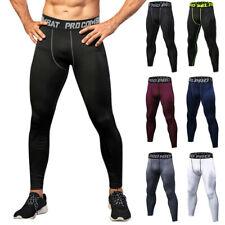 Para Hombre Pantalones Leggings Largo Capa Base Compresión Entrenamiento Workout Gym pantalón XXL
