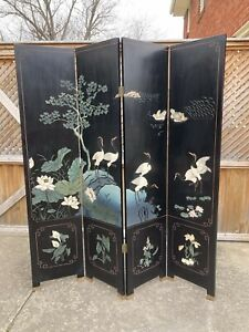 Asian 4 Panel folding screen