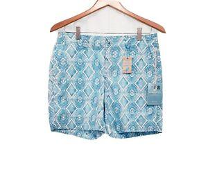 NEW Caribbean Joe High Rise Women's Turquoise Summer Shorts Sz 4 Petite Shorts