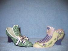 "Homco/Home Interiors ""Victorian Shoes"" Nib #13066 Pretty Resin Figurine Shoes"