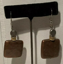 BOHO SQUARE COPPER OTHER METALS PIERCED EARRINGS HOOK UNIQUELY CHARMING AB