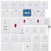 BG Nexus White Moulded Light Switches & Plug Sockets - Complete Range Round Edge