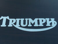 Triumph Stainless Steel Decal Logo Motif