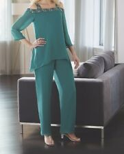 Mother of Bride Groom Wedding Bridesmaid  evening party dress pant suit plus 2X