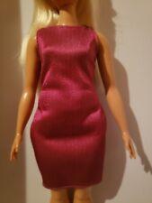 Barbie Doll Clothes Curvy Fashionistas Burgundy Dress