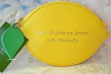 NWT Kate Spade When Life Gives You Lemons Make Limoncello Lemon Coin Purse