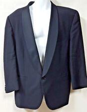 Nicole Miller Black Tuxedo Jacket 1 Button Wine Theme Lining Size 40