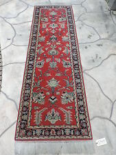 3x9ft. Handmade Persian Sarouk Wool Runner