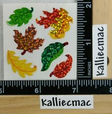 Sandylion FALL AUTUMN LEAVES SPARKLE Stickers 1 SQUARE NEW