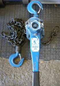 Tractel bravo™ 3 Ton Lever Hoist Come-a-long 10ft chain iso certified Over head