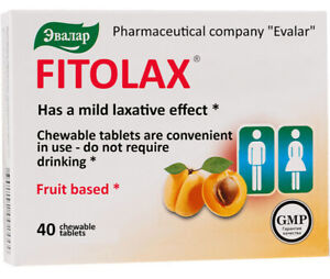 Fitolaks Fitolax 40 chewable tablets 500 mg fruit based Фитолакс Эвалар Evalar