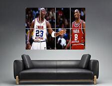 Michael Jordan Kobe Bryant Basket NBA Wall Art Poster Grand format A0