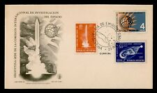 DR WHO 1965 ARGENTINA FDC SPACE INTL QUIET SUN YEAR  C238930