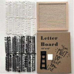 10x10 Inch Square Felt Letterboard Oak Wood Message Board 450 Plastic Lett MN