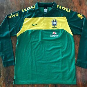 Brasil Nike 2010 Soccer polo shirt. Used by team. Guarana