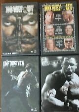 Wwe Wrestling 4 Dvd Lot - Unforgiven and No Way Out Pay Per Views