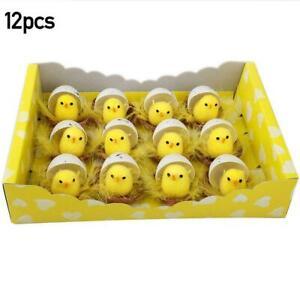 Easter Chicks Yellow Fluffy Plush Mini Chicken Kids 2021 Decor Eggs R6J4 Sale