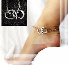 Chain Ankle Bracelet New Sexy Double Heart