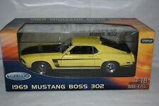 Welly 1969 MUSTANG BOSS 302 YELLOW