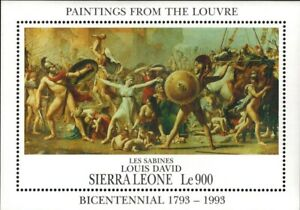 VINTAGE CLASSICS - Sierra Leone 1617 - Paintings from the Louvre - S/S - MNH