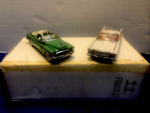 LOT OF 2 FRANKLIN MINT 1953 CADILLAC ELDORADO And CHEVY 1:43 SCALE DIE CAST