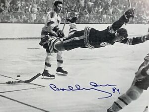 "Bobby Orr Signed Boston Bruins ""The Goal"" 7.5x11 Photo Autographed Auto GNR COA"